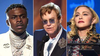 Dababy, Elton John, Madonna