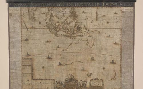 Ancient 17th century map of Australia restored over 700 hours