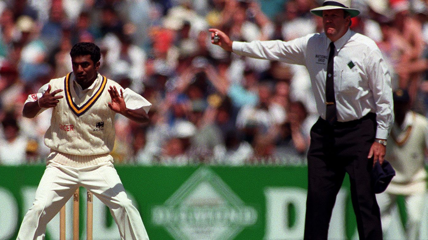 Darrell Hair no-balls Muttiah Muralitharan for throwing on Boxing Day 1995.