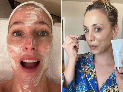 Gillian Anderson and Kaley Cuoco prep for the 2021 Emmys.