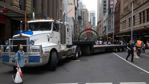 Another truck on George Street. (Image: AAP)