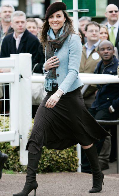 Kate Middleton at the 2007 Cheltenham Festival