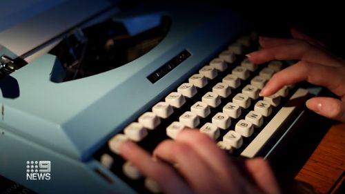"""Yours Faithfully"""" at Old Parliament House features restored press gallery typewriters and plenty of stationery."""