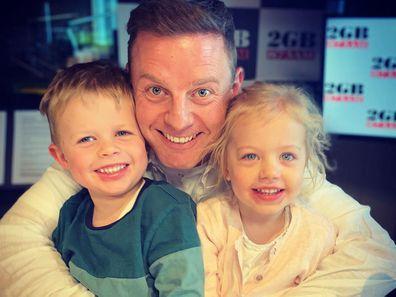 Ben Fordham with his children