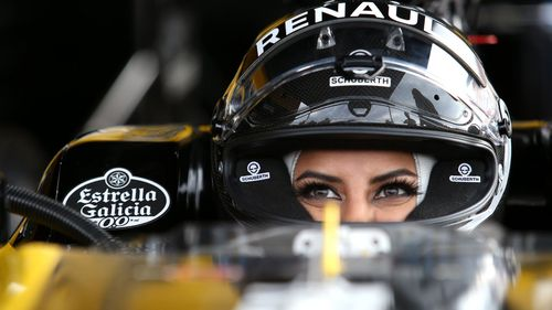 The lap of the track came on the same day the ban ended for women to get behind the wheel in Saudi Arabia. (Renault)