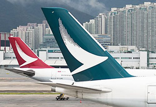 Cathay Pacific airliner tails (Getty)