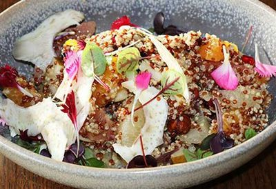 Quinoa and pomegranate salad