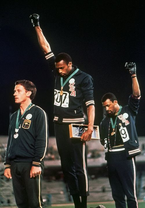 The iconic image from the 1968 Olympics in Mexico. (AAP)