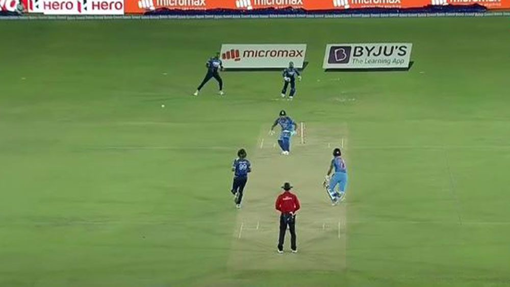 Indian batsman Rohit Sharma involved in freak run out against Sri Lanka
