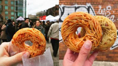 Brooklyn eatery's spaghetti donut hybrid divides the internet