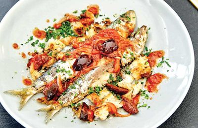 "Recipe:&nbsp;<a href=""http://kitchen.nine.com.au/2017/06/13/14/33/pan-fried-sardine-salad-with-tomatoes-olives-and-rocket"" target=""_top"" draggable=""false"">Pan fried sardine salad with tomatoes, olives and rocket</a><br /> <br /> More:&nbsp;<a href=""http://kitchen.nine.com.au/2017/06/13/17/08/recipes-you-can-cook-for-your-pregnant-partner-that-shell-actually-love"" target=""_top"" draggable=""false"">recipes from <em>A House Husbands' Guide: Cooking for your Pregnant Partner</em> cookbook by Aaron Harvie (New Holland Publishers)</a>"