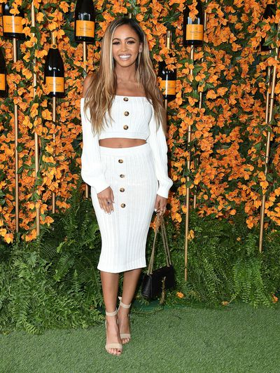 Vanessa Morgan arrives at the 9th Annual Veuve Clicquot Polo Classic event in Los Angeles, October 6, 2018