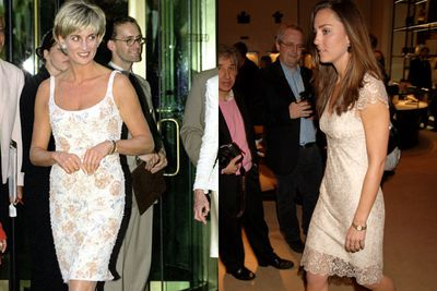 Short, lacy and floral. The Princess and the Duchess do dainty and girly.