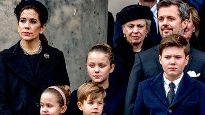 Danish royals farewell Prince Henrik in private service