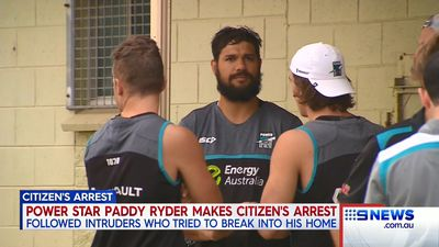 Port Adelaide Power star Paddy Ryder performs dramatic citizen's arrest after home invasion