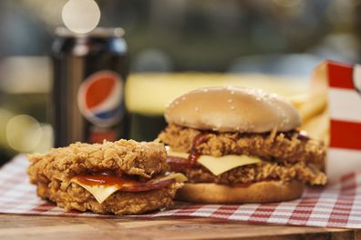 KFC Pizza Double and Pizza Double Burger