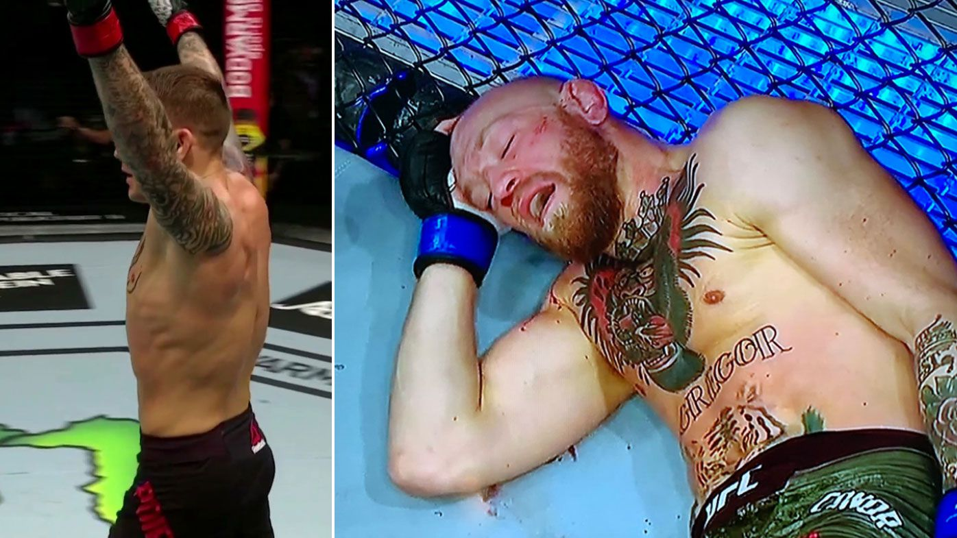 Dustin Poirier knocks out Conor McGregor.