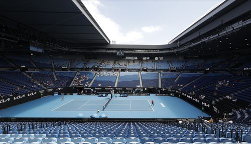 These stands at Rod Laver Arena will be empty for the final days of the Australian Open.