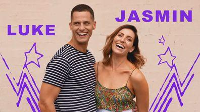 Luke and Jasmin from The Block 2020.