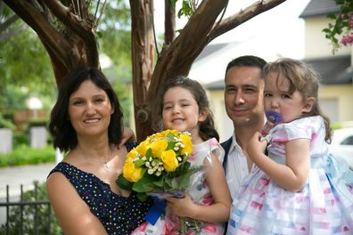 Arianna with her family
