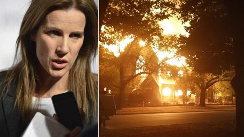 Actress 'elated' at blaze that gutted church linked to child sex abuse