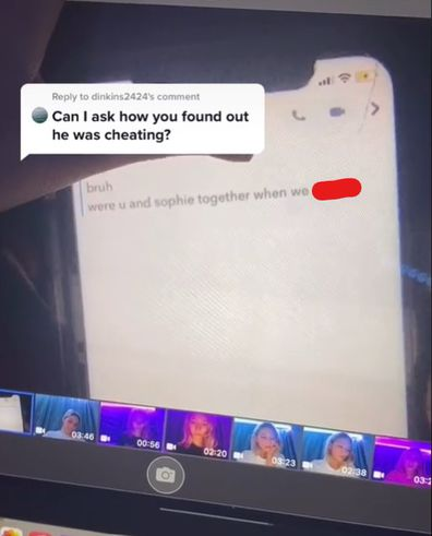 Woman discovers boyfriend was cheating on her with a phone filter