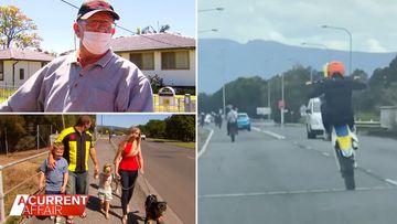 Teen hoons filmed doing wheelies and putting locals in danger