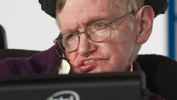 """Professor Stephen Hawking at the premiere of """"The Theory of Everything"""""""