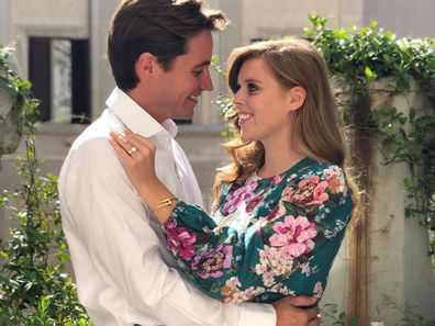 Princess Beatrice and Edoardo Mapelli Mozzi in an engagement portrait.