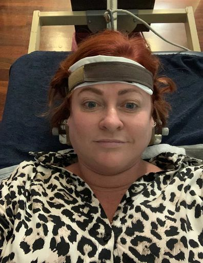 Shelly Horton gets treatment for neck pain