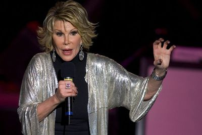 """During her 55-year career as a comedian, Joan's """"tough-talking"""" humour was both praised and criticised for being too abrasive... but she didn't care. <br/><br/>Her ability to straight talk landed her loads of stand-up time, with shows scheduled in Las Vegas months after her death. <br/>"""