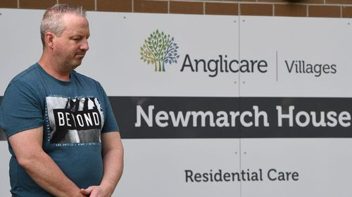 Anthony Bowe's mother is a resident at Newmarch House (Photo: Dean Lewins).