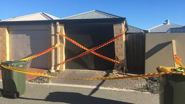 An Ellenbrook man is in hospital with leg injuries after his car rolled over him early this morning.