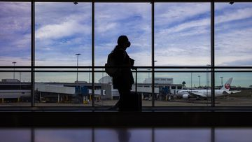 Sydney International airport as new restrictions came into force.