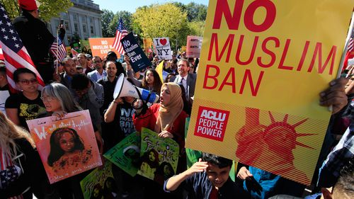 The Supreme Court is allowing the Trump administration to fully enforce a ban on travel to the United States by residents of six mostly Muslim countries (AP Photo/Manuel Balce Ceneta, File)