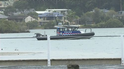 Water Police are searching the area near the boat ramp.