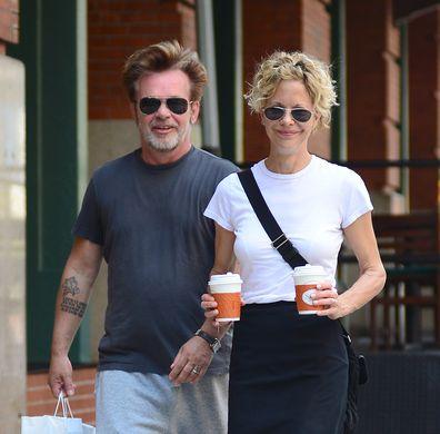 Meg Ryan and John Mellencamp are seen in Tribeca on June 24, 2013 in New York City.