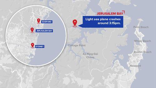 The plane crashed north of Sydney.
