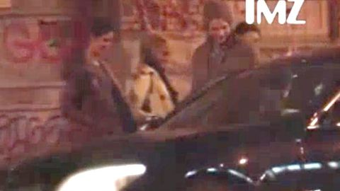 WATCH: Ashton Kutcher hits the town with not one, but three women!