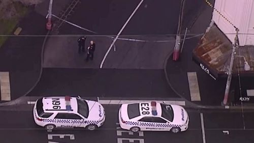 Police at the High Street property. (9NEWS)