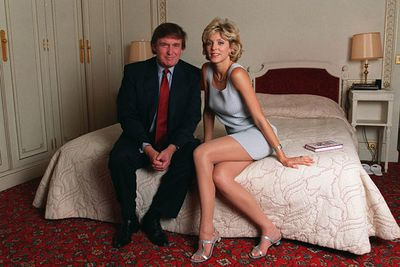 <p>Age gap: 18 years</p><p>Marla started dating Donald while he was still married to Ivana Trump. They divorced after reports that Marla was found with one of the Trump bodyguards</p><p>Karma's a b---h.</p><br/>