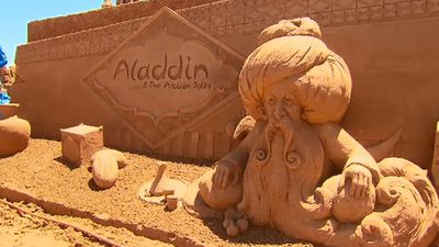 Aladdin comes to Victoria with new sand sculpture display