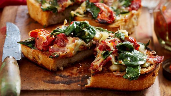 Sourdough spinach melts