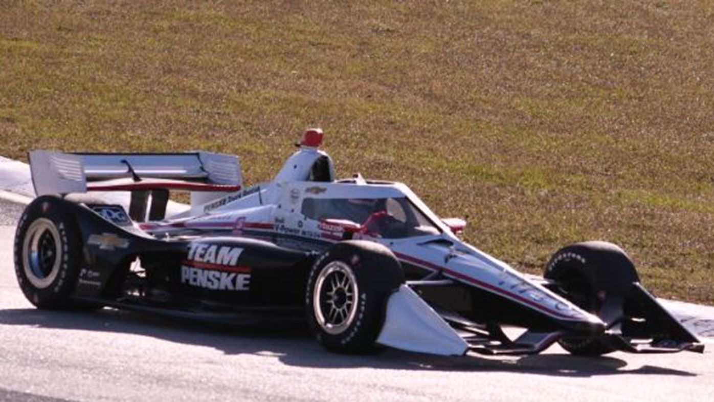 Scott McLaughlin behind the wheel of the Penske IndyCar.