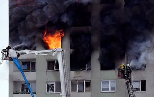 At least five dead after gas explosion at building in Presov, Slovakia