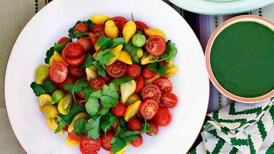 "Click through for our <a href=""http://kitchen.nine.com.au/2016/05/13/12/45/cherry-tomato-salad"" target=""_top"">cherry tomato salad</a> recipe"