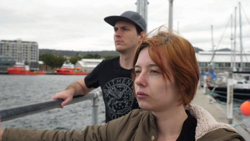 Kimberey Grandison with her boyfriend, Jordan McGinley.