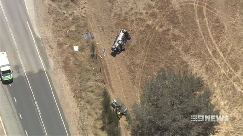 Police say the family of six were saved by their seatbelts.