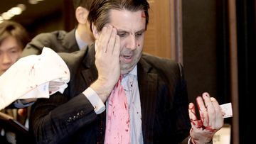 The man who attacked Mark Lippert with a knife has been charged with attempted murder. (AAP)