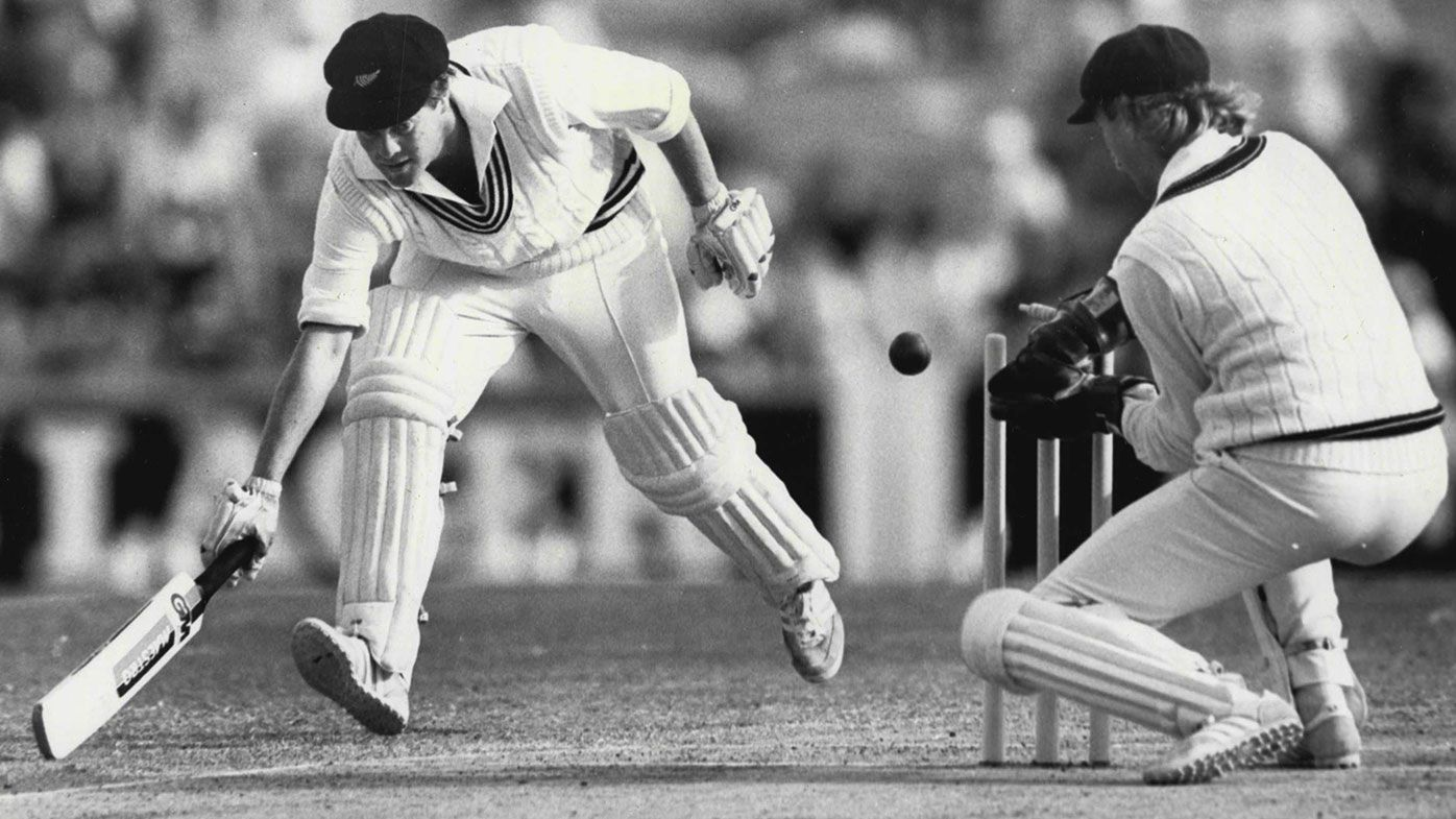 John Reid in action for New Zealand in the summer of 1985-86.